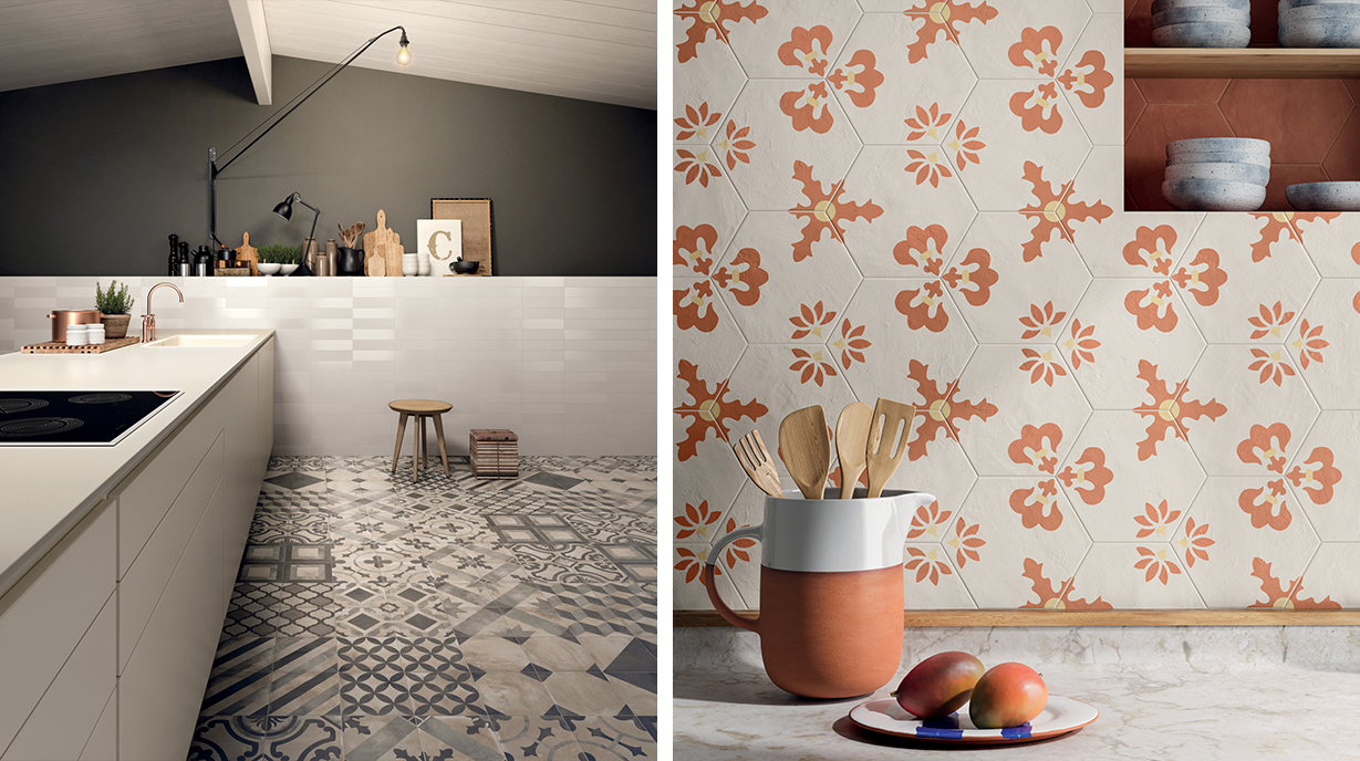 Traditional and classic kitchen decorative tiles
