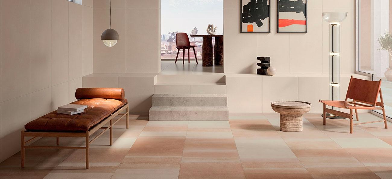 Marca Corona tiles in white body and porcelain stoneware ...