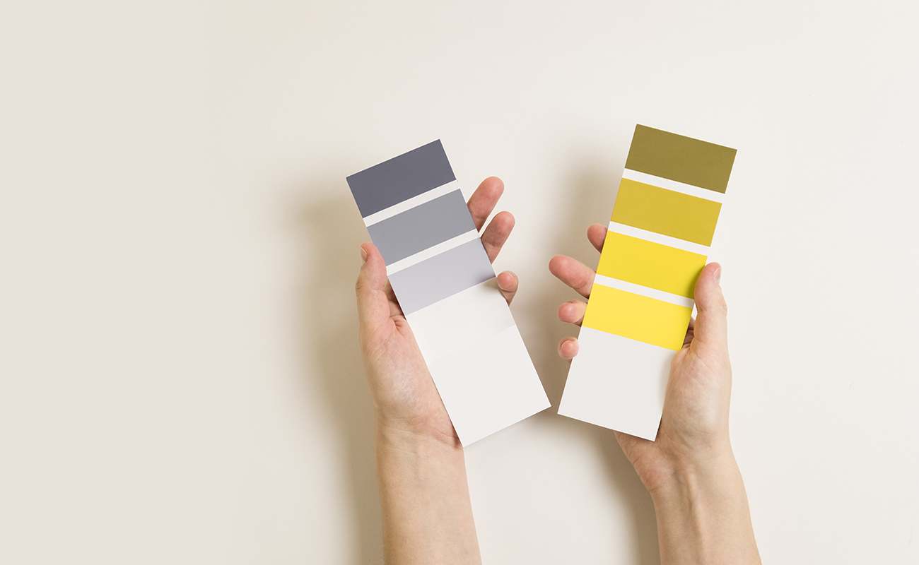 Pantone color of the year 2021: yellow and gray