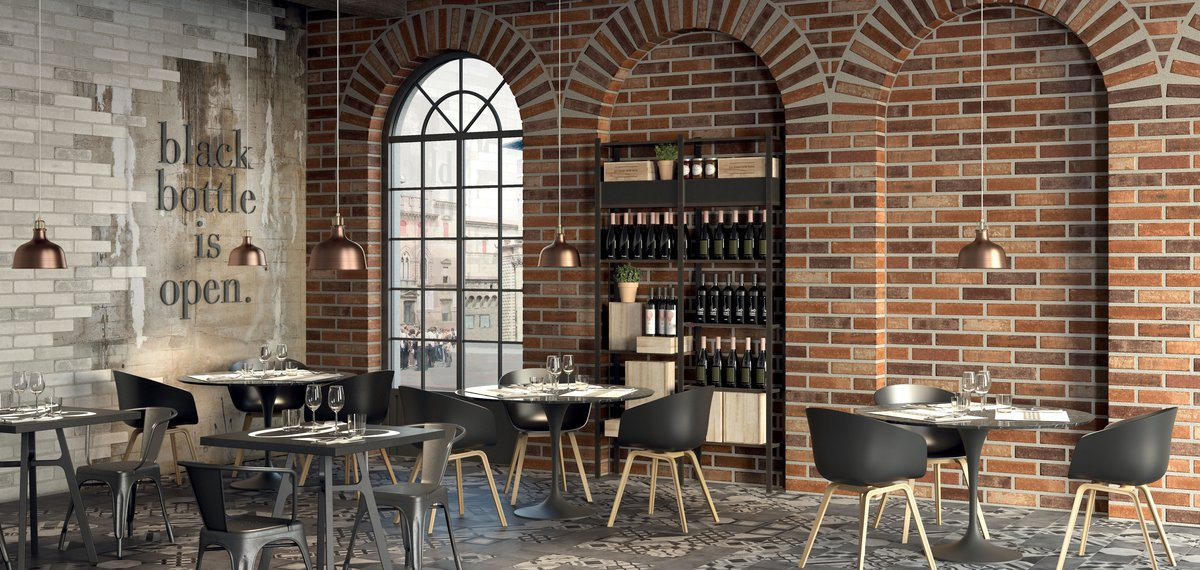 Brown Bricklane | Marca Corona ceramic tiles
