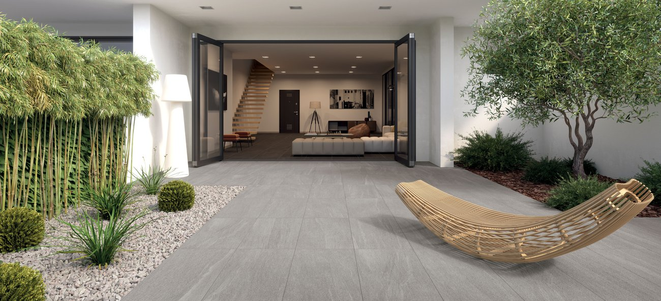 Ceramic natural stone-effect tiles Overland