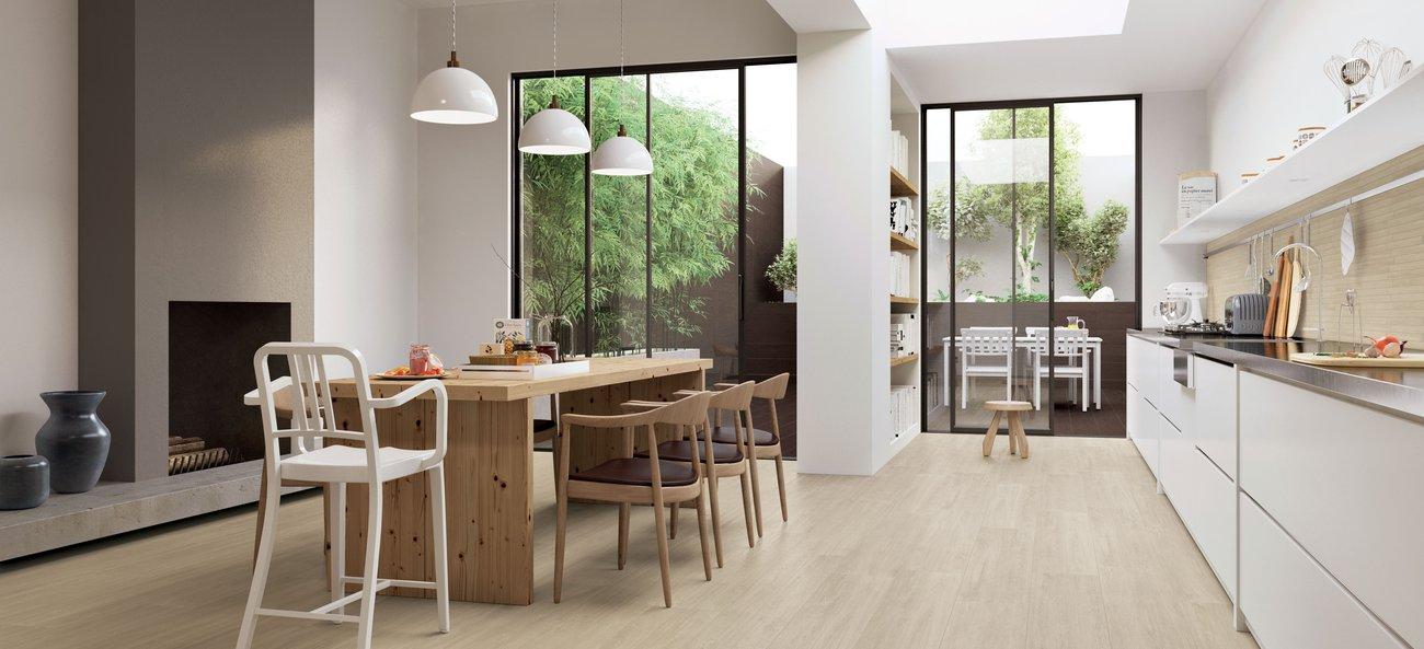 . Prestige  modern wood effect flooring in porcelain stoneware   Marca