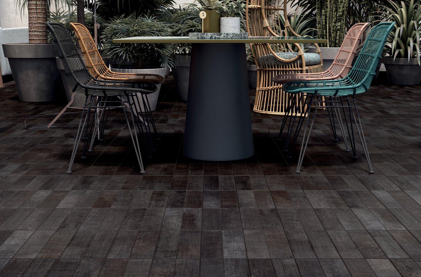 Hexagonal Cementine Tiles Inspired Textile Marca Corona