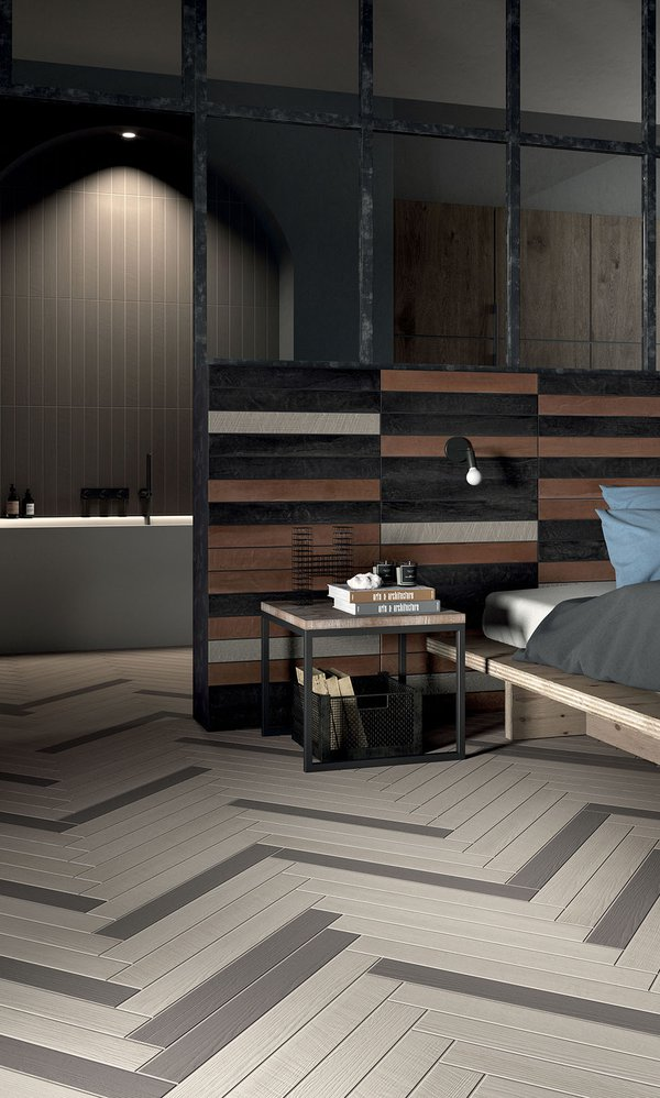 Brown Elemento | Marca Corona ceramic tiles