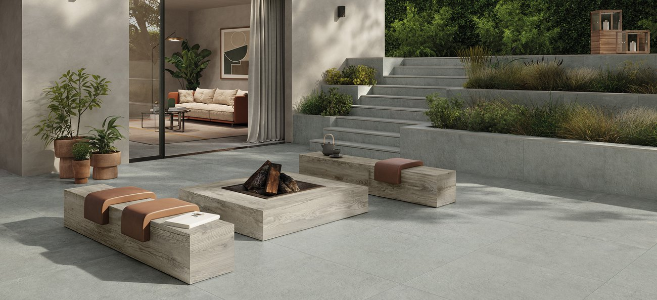 Stone effect tiles for outdoors Historica