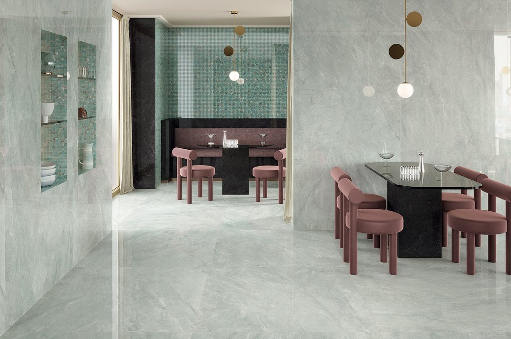 GRES PORCELLANATO GRIGIO Foyer Royal | Marca Corona ceramic tiles