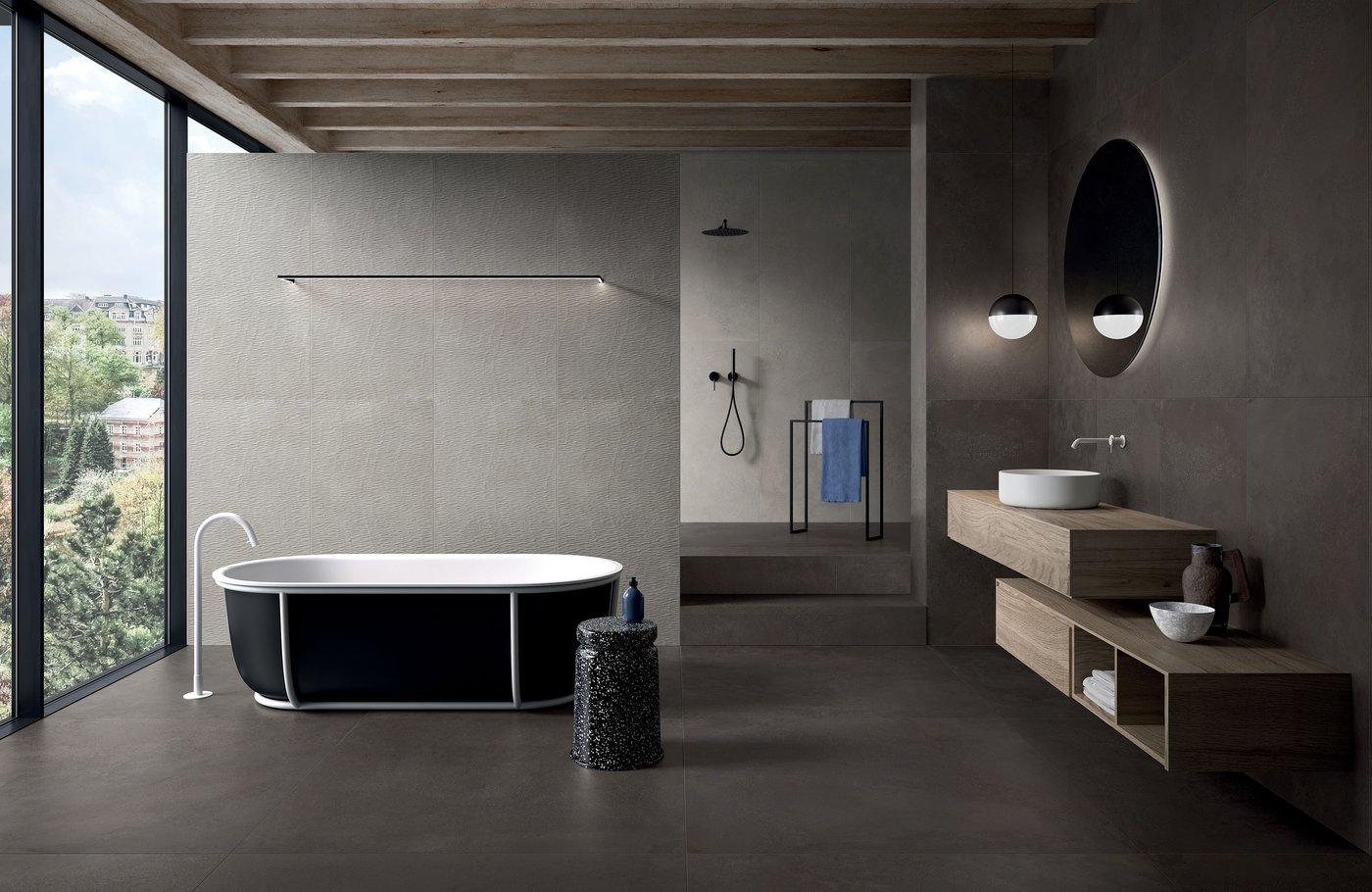 Phase Concrete Effect Flooring And Stoneware Wall Tiles