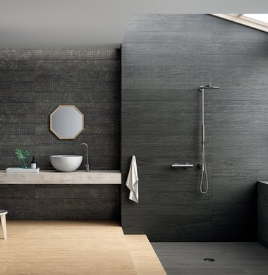 BLACK TILES Lagom | Marca Corona ceramic tiles