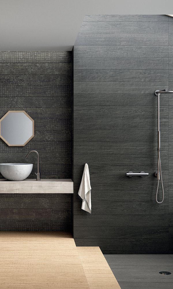Black Lagom | Marca Corona ceramic tiles