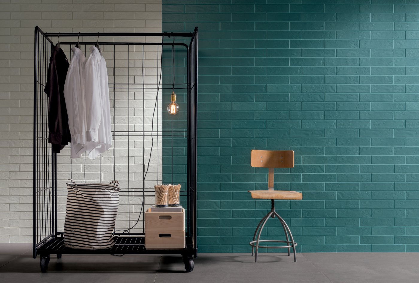 Faux-brick tiles with an industrial allure Regoli | Marca Corona
