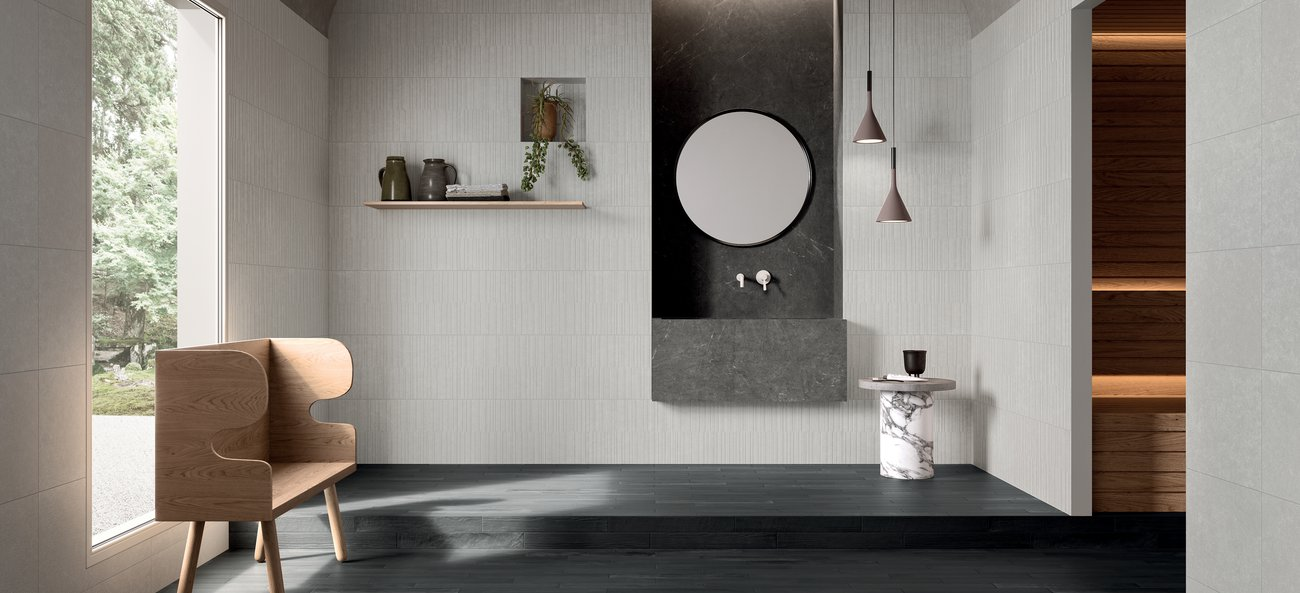 White porcelain wall tiles Soul Bay