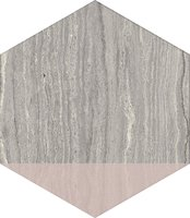 MOTIF TRAVERTINO SILVER DEC.ROSE ESA (25x21,6 cm)